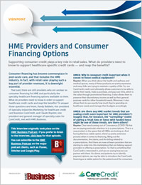 HME Providers and Consumer Financing Options